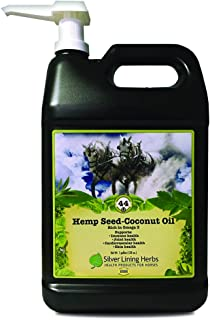 Silver Lining Herbs Hemp Seed Oil-Coconut Oil | Source of Omega 3 Fatty Acids and Vitamin E | Supports Horse Health of the Immune System, Joints and Cardiovascular System | 1 Gallon | Made in the USA