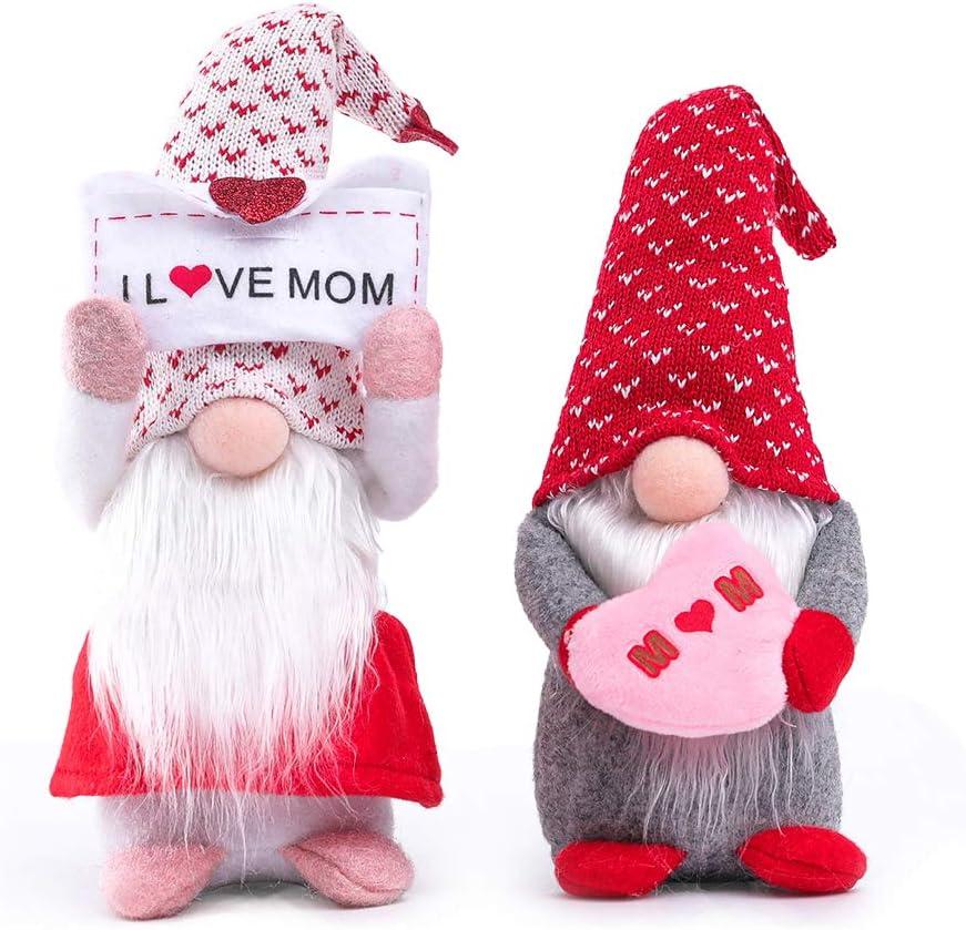 2PCS Mother's Day Gnome Decor service Handmade Plush Scandinavian gift Craft