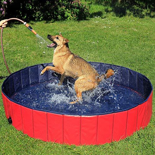 lionto by dibea Piscina plegable para perros bañera para perros piscina mascotas (L) Ø 160 cm