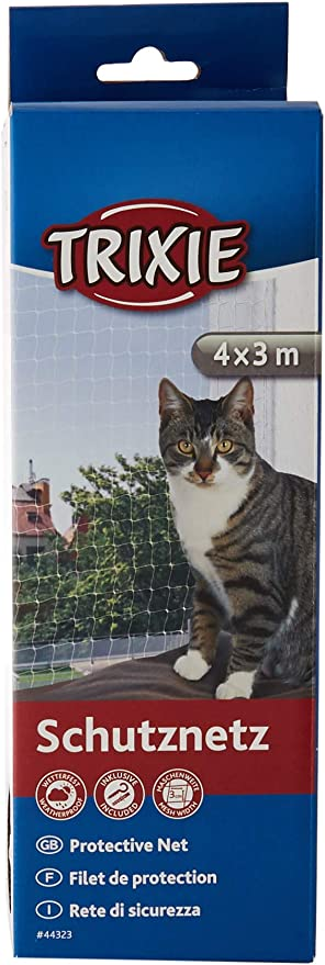 TRIXIE Red protección, Gato, Transparente, 3 x 2 m: Amazon.es: Productos para mascotas