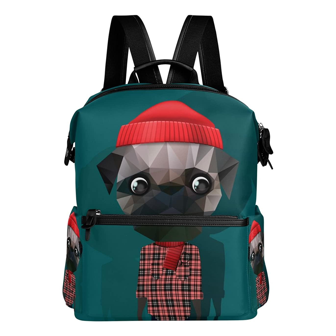 意識的必要とする住所AOMOKI バッグ リュック リュックサック メンズ レディース 通勤 通学 大容量 犬 幾何学