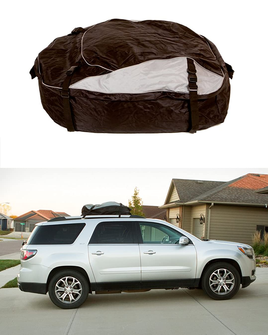 ABN Vehicle Roof Cargo Carrier Roof Bag – Extra-Large XL 12' Cubic Feet Car Rooftop Cargo Carrier Travel Luggage Bag u3314730614