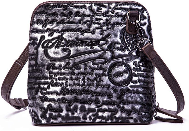 ArotOVL Vintage Vintage Vintage Echtleder Crossbody Tasche Geldbeutel Schulranzen Handtasche für Damen (Farbe   Silber) B07L8D1BW1  Neuankömmling f53af8