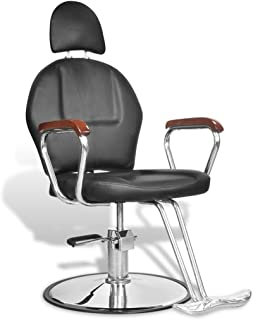 Salon Cutting Hairdressing Chair Gas Lift Barber Furniture PU Leather Head Rest