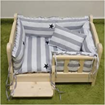 Wood Kennel for Your Cat Or Dog, Four Side Fence with Stairs, Easy to Installation, for All Seaons Pet Nest Kennel YUXO