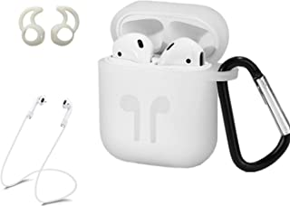 LBG Products AirPods Case Protective Silicone Cover and Skin Accessories Kit with 2 Headphone Ear Hook, 2 Anti-Loss Strap,...