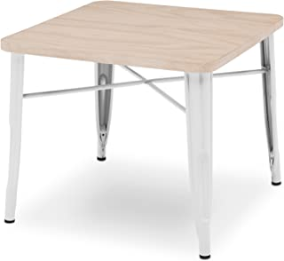 Delta Children Bistro Kids Play Table, White with Driftwood