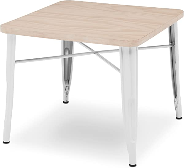 Delta Children Bistro Kids Play Table White With Driftwood