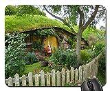 Alfombrilla Set De Película Hobbiton Door Fence Nueva Zelanda Alfombrilla De Ratón Antideslizante Base De Goma Precisión Alfombrilla Gaming para Computer Ordenador Laptop, 25X30 Cm