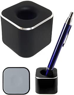 twoPa ペン立て アルミ合金製の超集中1本用 ペンスタンド オフィスデスク 受付が映える文房具 ブラック