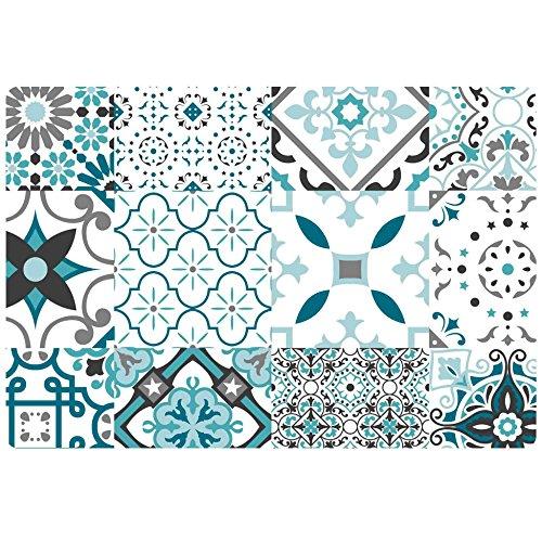 décorline set de table 30x44cm pvc taormina bleu