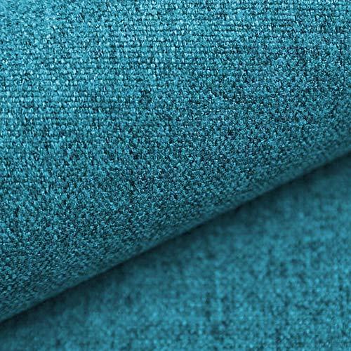 NOVELY® MALCHIN Flauschiger Polsterstoff im Leinenlook Möbelbezugsstoff (19 Dunkel Petrol)