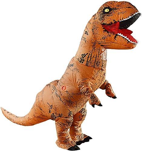 RNGNBKLS T-Rex Costume Gonflable Dinosaure Explosion DéguiseHommest DéguiseHommest HalFaibleeen Masvoitureade Fun,150-195cm