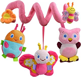 Anniston Kids Toys, Hanging Bee Animal Rattle Bell Mirror Baby Spiral Stroller Wrap Around Crib Toy Baby Toys Perfect Fun ...