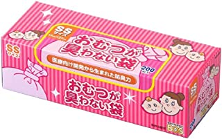 驚異の防臭袋BOS(ボス) おむつが臭わない袋 赤ちゃん用 箱型 SSサイズ 200枚入り