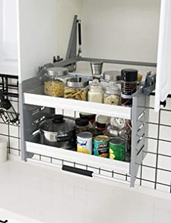 Cabinet Pull Down Shelf Kitchen Wall Cabinet Storage Organizer (30inch Cabinet)