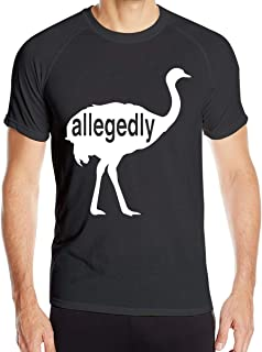 Men's Letterkenny Allegedly Ostrich T Shirts Short Sleeve Quick Dry Athletic Tee