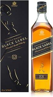 Johnnie Walker Black Label Blended Scotch Whisky – Exklusiver, rauchiger Blended Whisky – Aus den vier Ecken Schottlands direkt ins Glas – In edler Geschenkverpackung – 1 x 0,7l