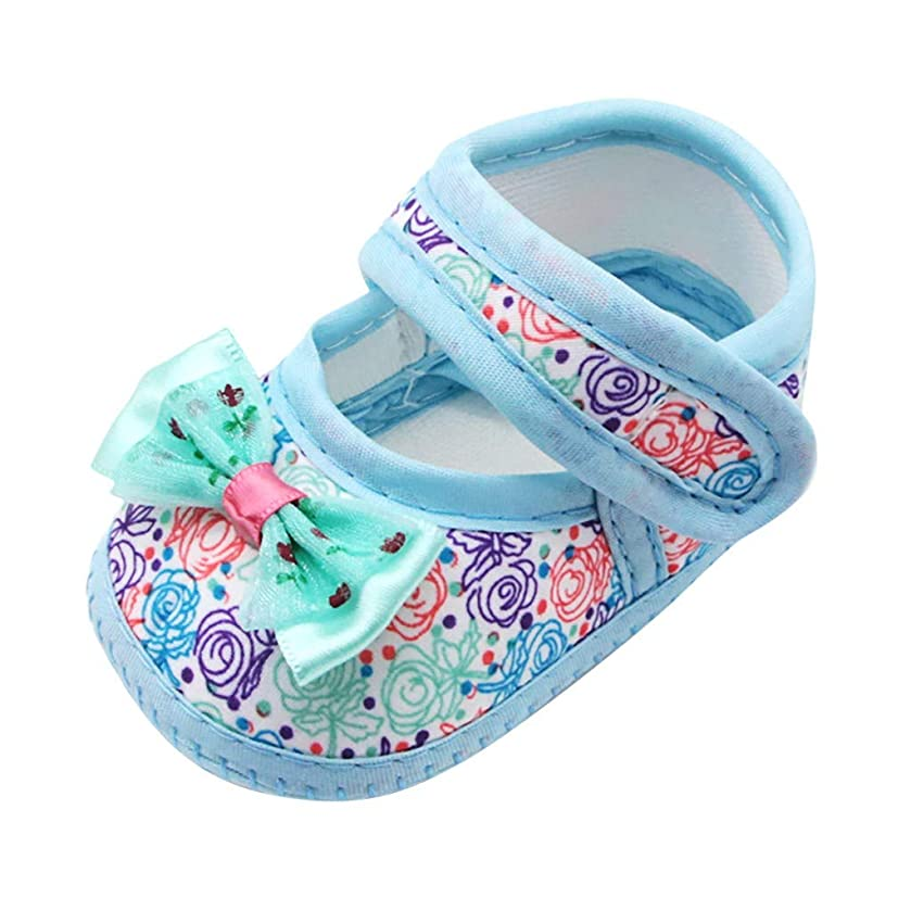 WUAI Infant Baby Girls Princess Shoes Bowknots Prewalker Moccasins First Walkers Crib Shoes 0-18Months