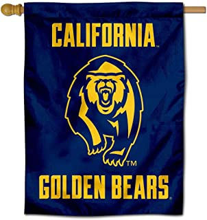 College Flags and Banners Co. Cal Bears Bear Logo Double Sided House Flag