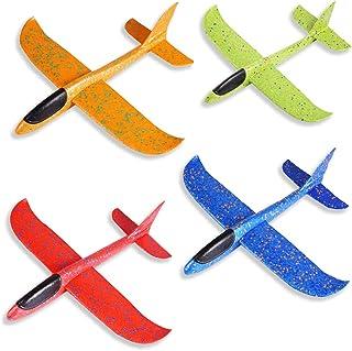 Segelflygplan, ZoneYan 4 st flygplan frigolit, flygplan kasta, polystyrenflygplan barn, polystyrenflygplan, kasta flygmode...