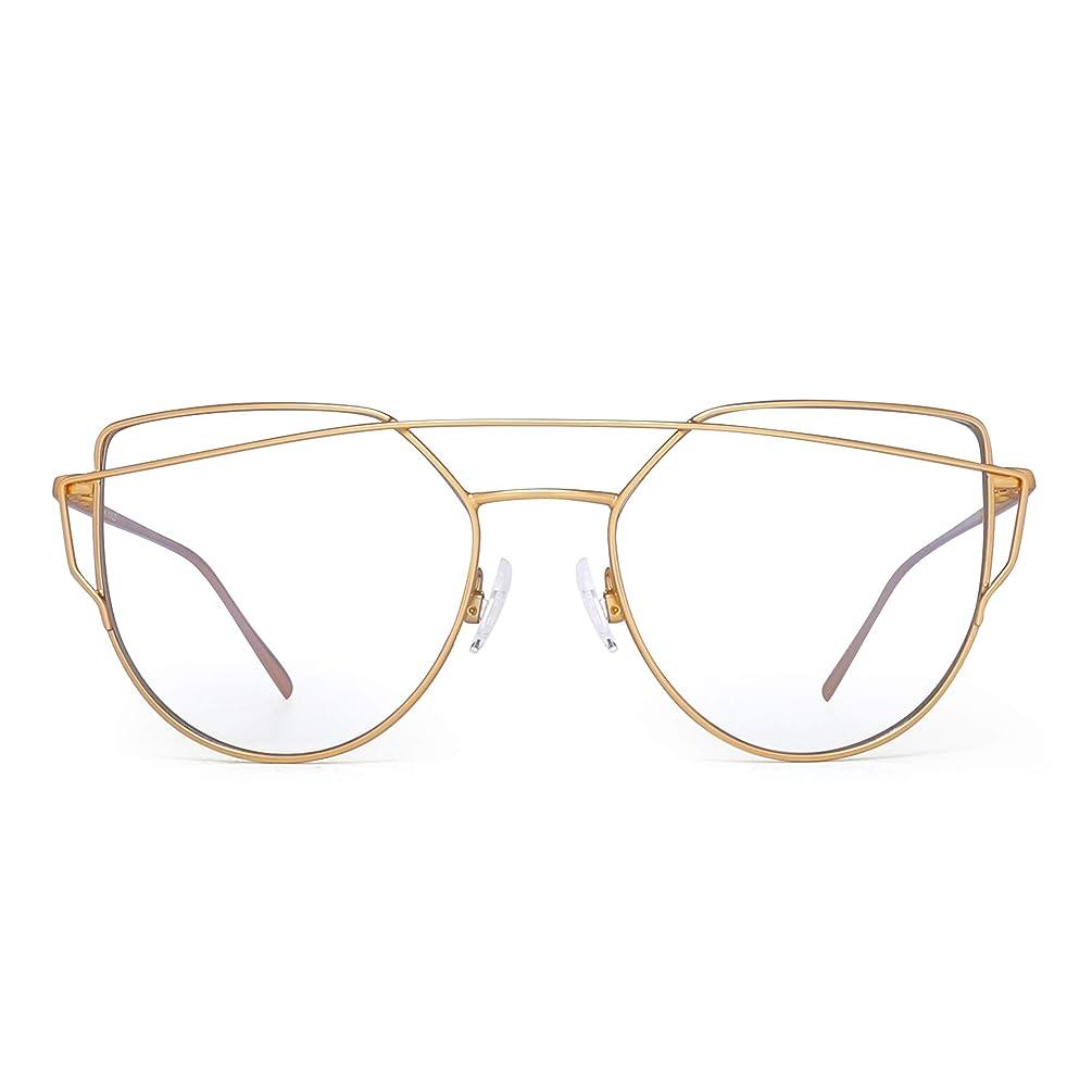 JIM HALO Cateye Blue Light Blocking Computer Glasses Women Video Game Eyeglasses, Reduce Eye Strain