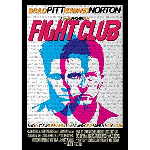Fabulous Poster Affiche Fight Club Affiche Film Brad Pitt Edward Norton(61x86cmB)