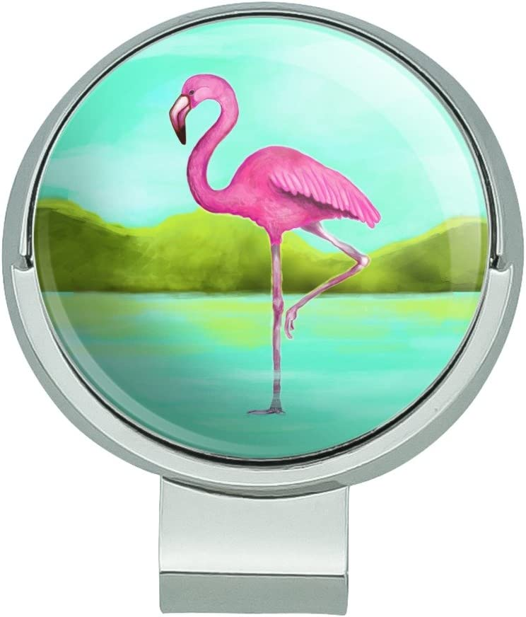 Directly managed store GRAPHICS MORE Pink Flamingo in Water Hat Magnet Golf Sales results No. 1 with Clip