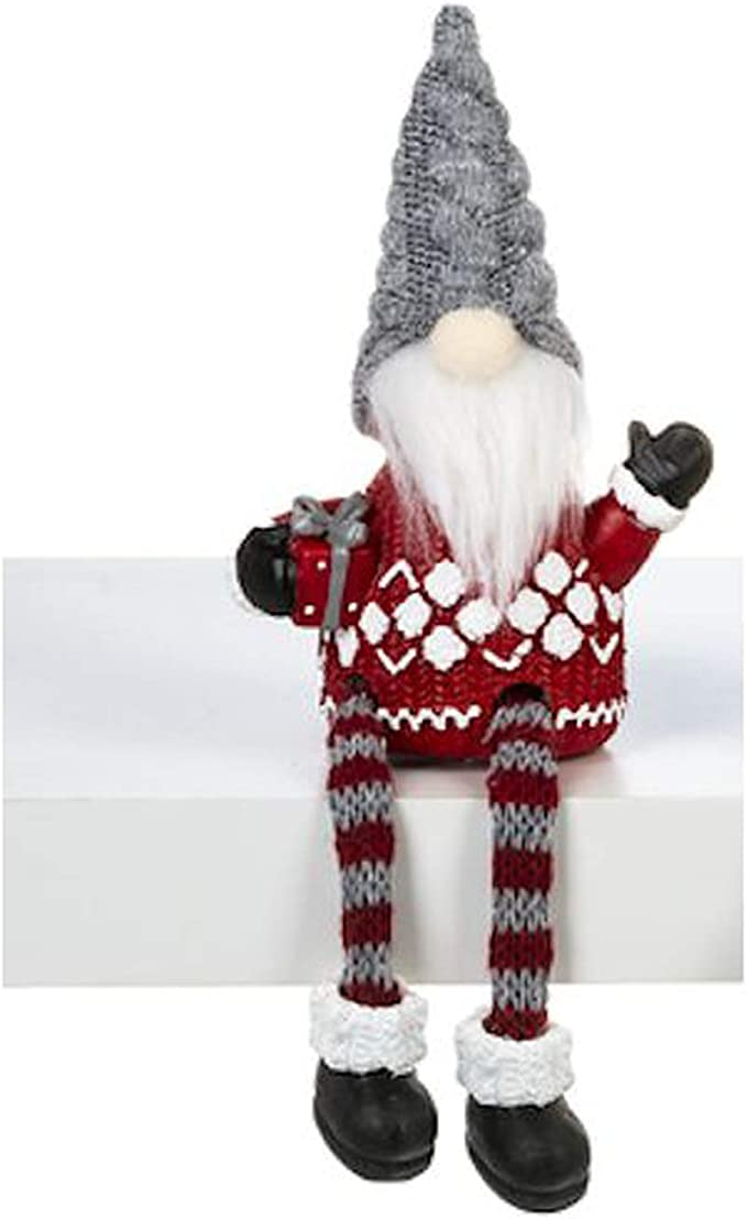 Amazon Com Ganz Christmas Gnome Shelf Sitter Festive Design Bearded Gnome Decor 7 Fabric Decorative Shelf Sitter Figurine Christmas Decor For Home Table Shelf Desk Fireplace Red Sweater Home Kitchen