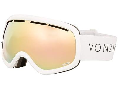 VonZipper Skylab Goggle (White Gloss/Wild Gold Chrome Lens) Snow Goggles