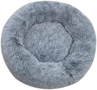 huangThroStore Cama calmante para Perros y Gatos, Cama de Felpa para Cachorros y Perros, Dark Gray, 60 cm