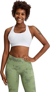 Women Yoga Bras, Sexy Shockproof Breathable Workout Gym Running Sports Yoga Bra,White,4
