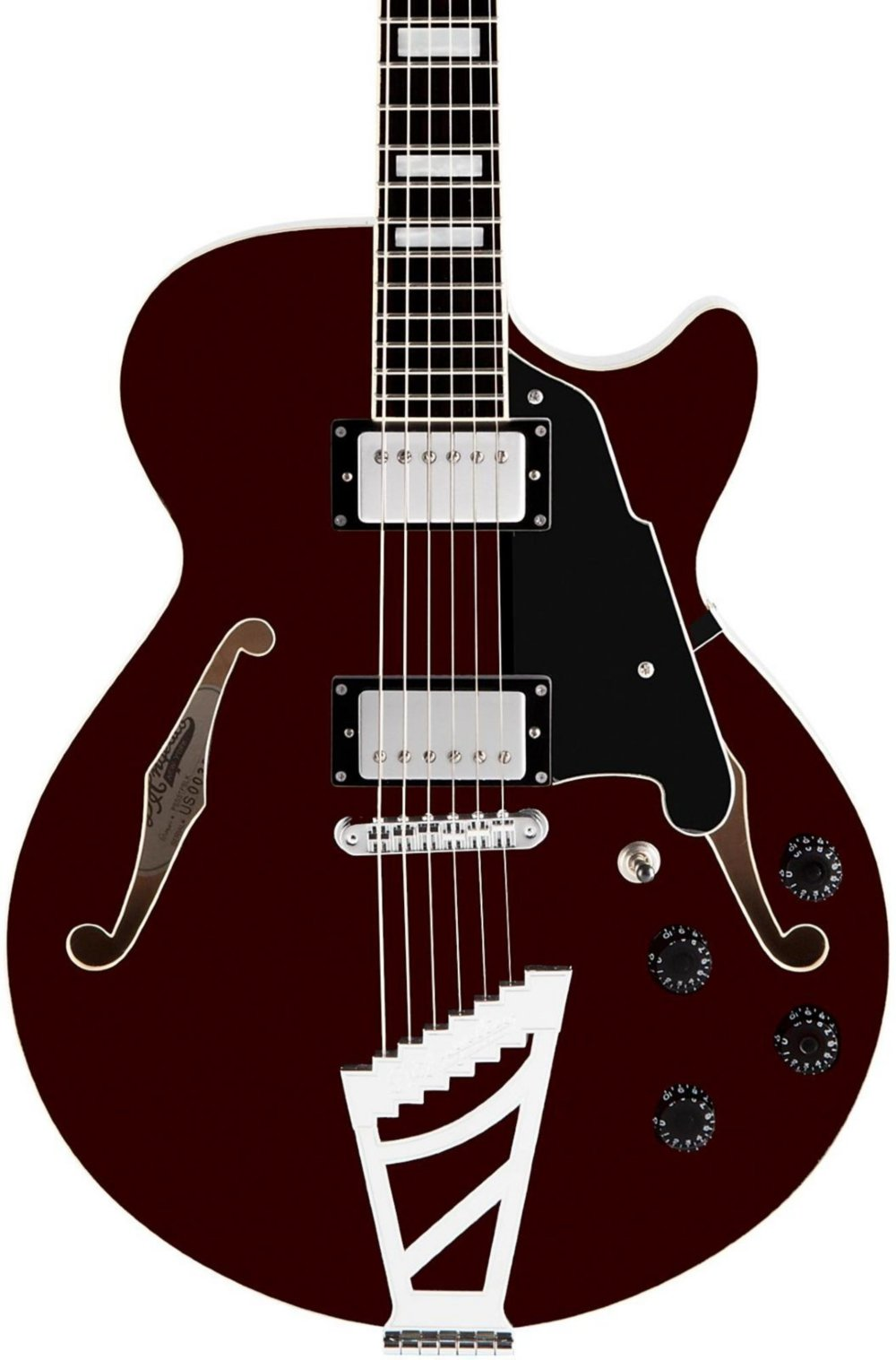 Cheap D Angelico Premier SS Semi-Hollow Electric Guitar w/ Stairstep Tailpiece - Trans Wine Black Friday & Cyber Monday 2019