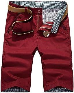 Saoye Fashion Men's Simple Chino Shorts Short Solid Color Simple Leisure Fashion Clothing Summer Bermudas 3 4 Trousers Basic