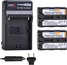 PowerTrust 2-Pack NP-FM50 NP FM50 Battery and Fast Charger for Sony NP-FM30 NP-FM51 NP-QM50 NP-QM51 NP-FM55H TRV280 TRV350 TRV250 TRV19 TRV22 TRV27 TRV33 TRV460 TRV140 TRV17 TRV340 TRV38 TRV480 TRV260