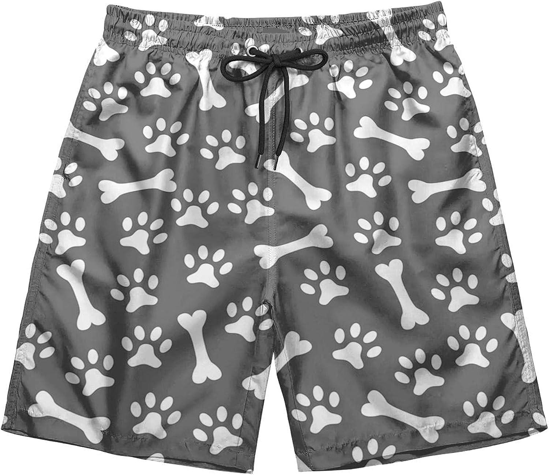 Dog Footprint Men's Max 44% OFF Classic Fit Front Popular brand Flat Travel Short Perfect