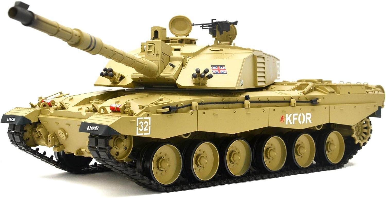 ES-TOYS RC Panzer Britischer Challenger 2  Heng Long 1 16 mit Rauch&Sound und Metallgetriebe -2,4Ghz B01MG1VQD1 Förderung   | Moderate Kosten