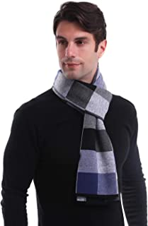 LAIWOO Mens Cashmere Scarf, Soft Classic and Business Style Warm Winter Shawls Scarf for Men with Gift Box