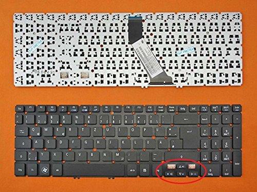 kompatibel für Acer Aspire V5-571 Tastatur - Farbe: schwarz - Ohne Beleuchtung, Ohne Rahmen - Deutsches Tastaturlayout