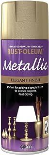 Rust-Oleum AE0110001E8 400ml Metallic Spray Paint - Elegant Gold