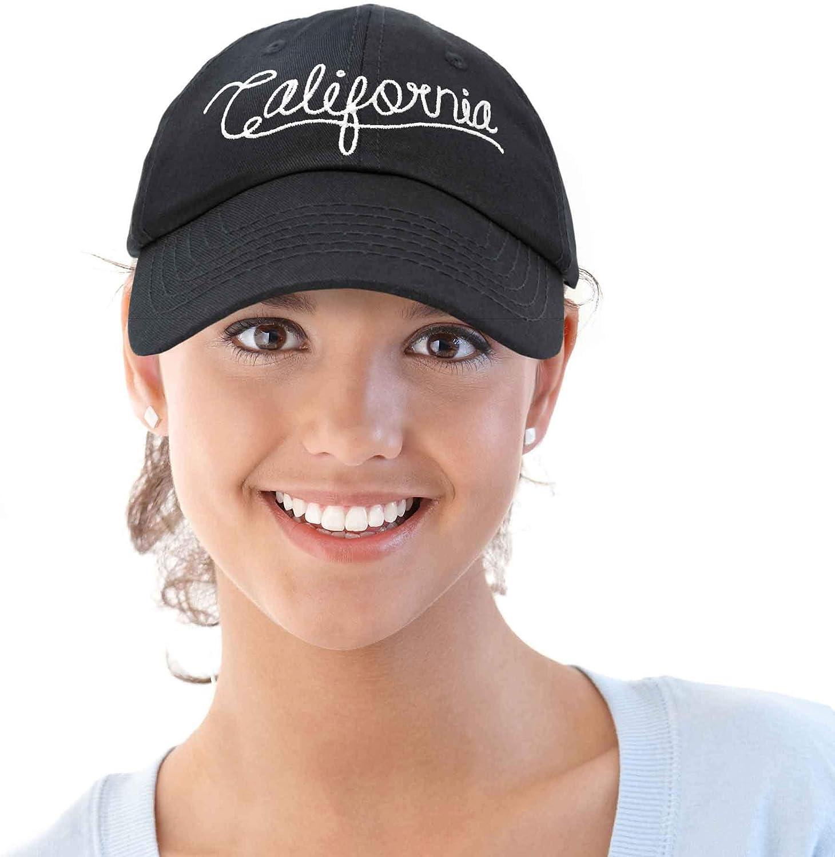DALIX California Baseball Cap Dad Hat Mens Hats Womens Caps Black Blue Khaki Red