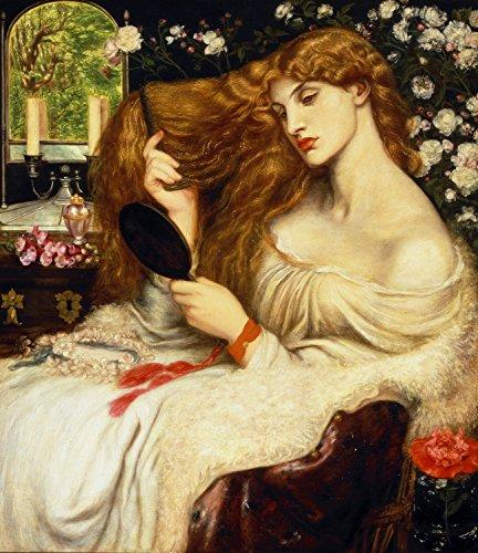 Dante Gabriel Rossetti - Lady Lilith, Size 24x28 inch, Canvas Art Print Wall décor