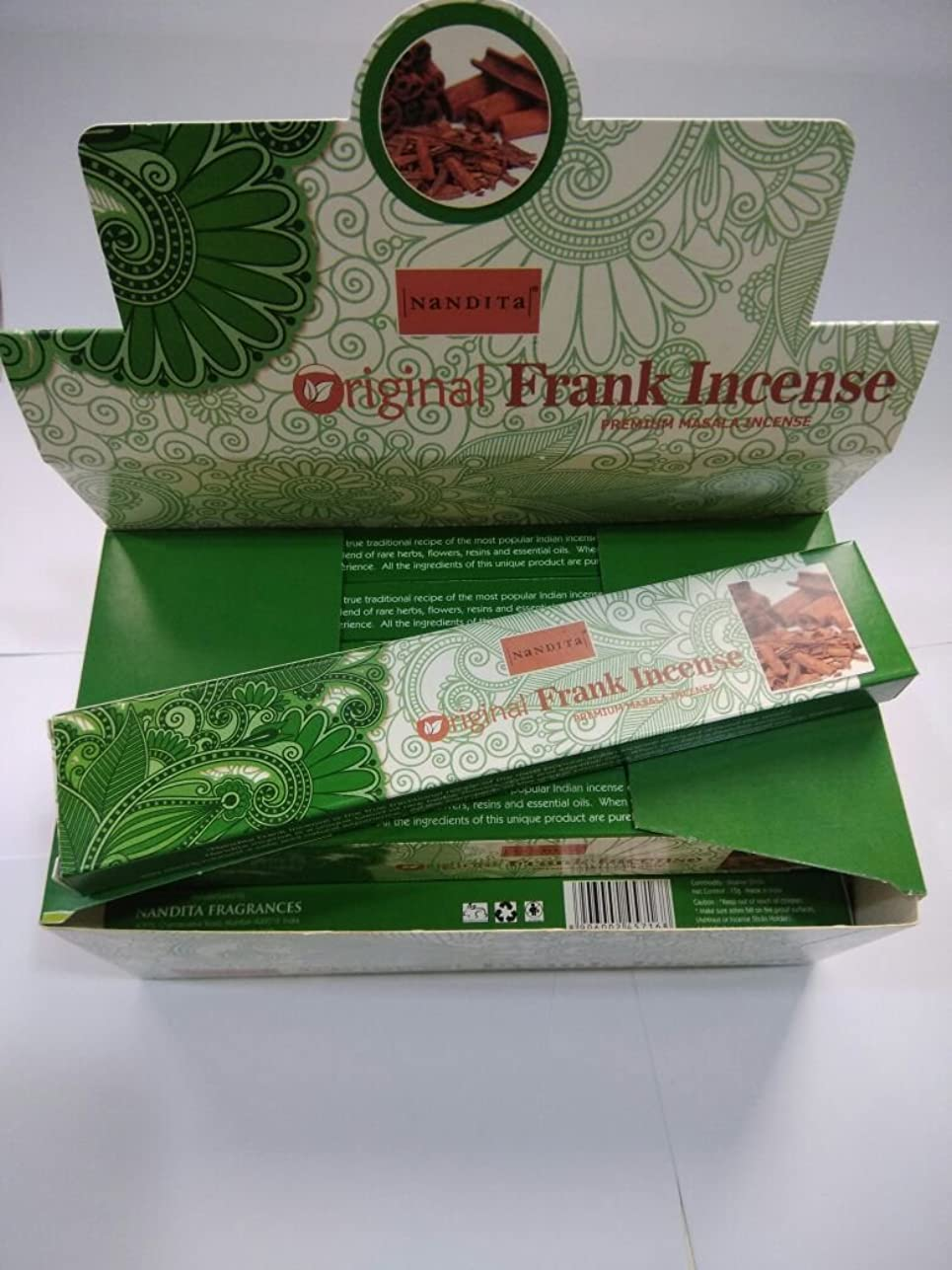 投獄ごめんなさい水没Nandita元Frankincense Incense Sticks(15?g x 12パケット)