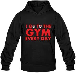 P-Jack Men's I Go To The Gym Every Day Gym Hoodie Sweatshirt