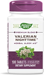 Nature's Way Valerian Nighttime Herbal Sleep Aid, 320 mg per serving of Valerian Extract, 100 Count