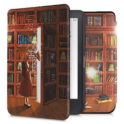 kwmobile Custodia Compatibile con Kobo Clara HD - Cover in Simil Pelle Magnetica Flip Case Custodia per eReader Multicolore