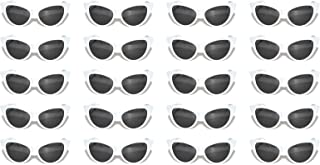 20 Pirs Wholesale Lot Cat Eye Sunglasses Colored Plastic Frame Colored Lens