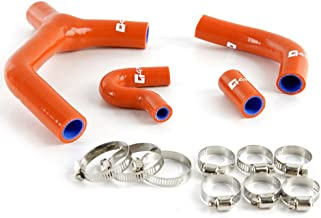 Silicone Radiator Hose Y Kit Clamps For KTM 450EXC-R EXC-R 530 EXC 2007-2010 Dark Orange