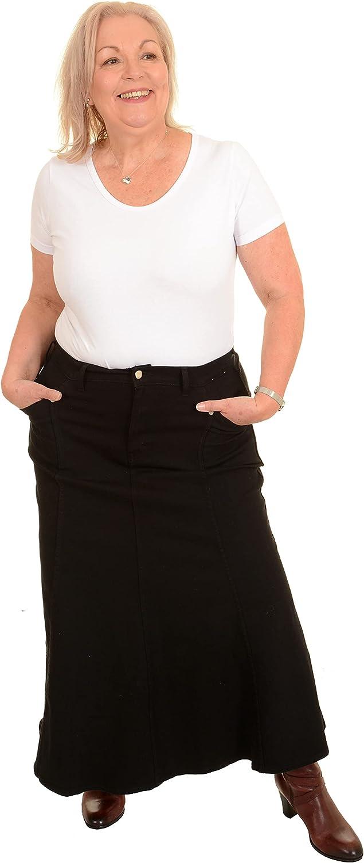 Ice Cool Popularity Ladies Long Flared Black 2021 new 4 Stretch - Denim Sizes Skirt