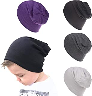 4 Packs Baby Toddler Soft Cute Hats Knit Beanie Worm Winter Caps